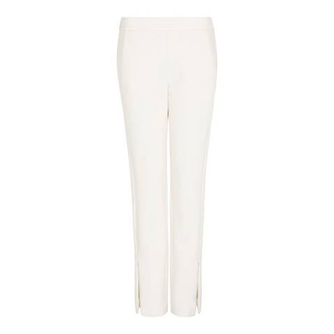 Amanda Wakeley Cream Sculpted Tailoring Peg Pant