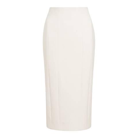 Amanda Wakeley Cream Sculpted Tailoring Pencil Skirt