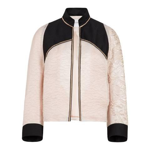 Amanda Wakeley Pink/Multi Sheer Cloque Bomber Jacket