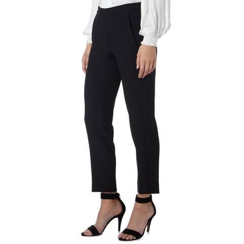 Amanda Wakeley Black Slim Leg Crepe Tailoring Pant