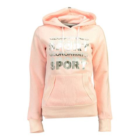 Geographical Norway Light Pink Figale Hoodie