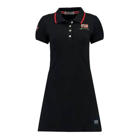 Geographical Norway Black Katchetta Short Sleeve Dress