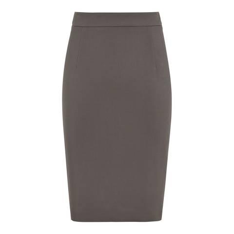 Reiss Green Lory Pencil Skirt