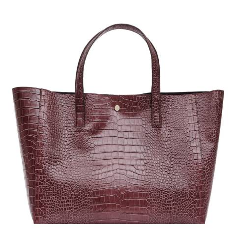 Reiss Burgundy Louie Tote Bag