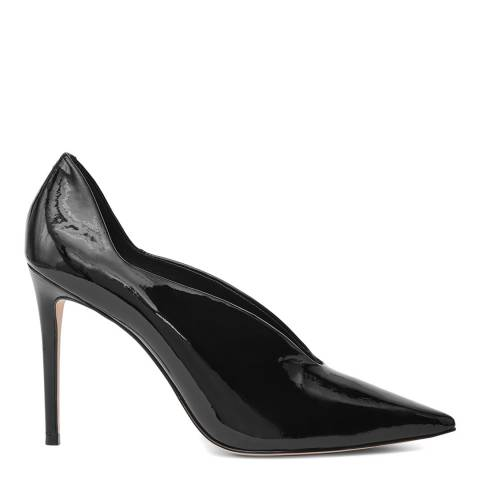 Reiss Black Jil Patent Pointed Court Heel
