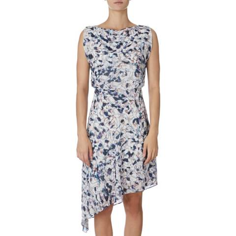 Reiss Blue Multi Felicia Dress
