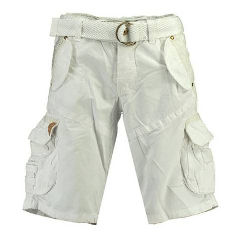 Geographical Norway White Pouvoir Swim Shorts