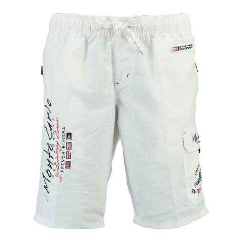 Geographical Norway White Quaractere Assor A Swim Shorts