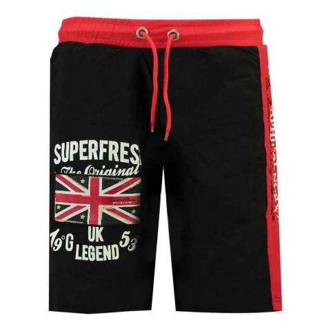 Geographical Norway Black Quodesh Ass A Swim Shorts