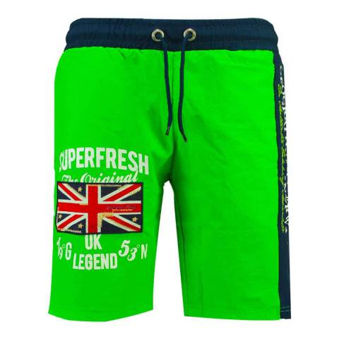 Geographical Norway Flashy Green Quodesh Ass A Swim Shorts
