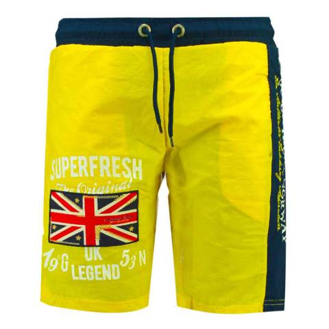 Geographical Norway Flashy Yellow Quodesh Ass A Swim Shorts