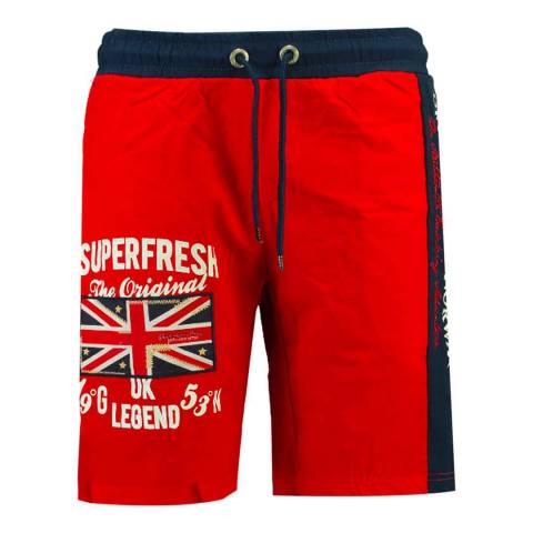 Geographical Norway Red Quodesh Ass A Swim Shorts