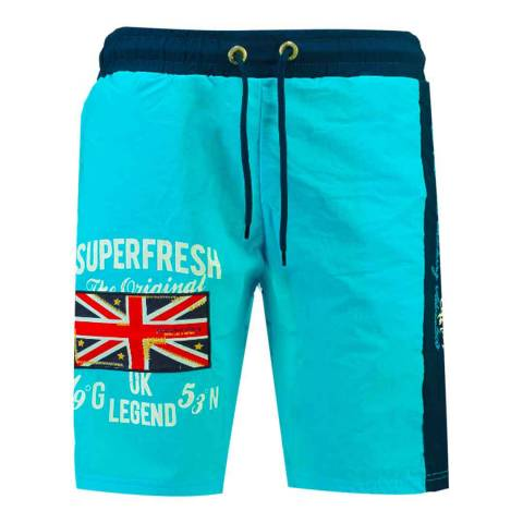 Geographical Norway Turquoise Quodesh Ass A Swim Shorts