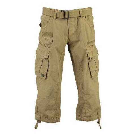 Geographical Norway Beige Panoramique 3/4 Basic Trousers