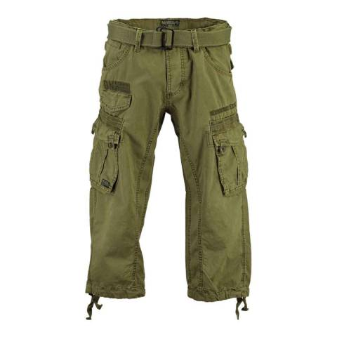 Geographical Norway Khaki Panoramique 3/4 Basic Trousers