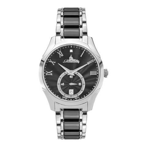 Richtenburg Women's Silver/Black Stainless Steel Quartz Watch