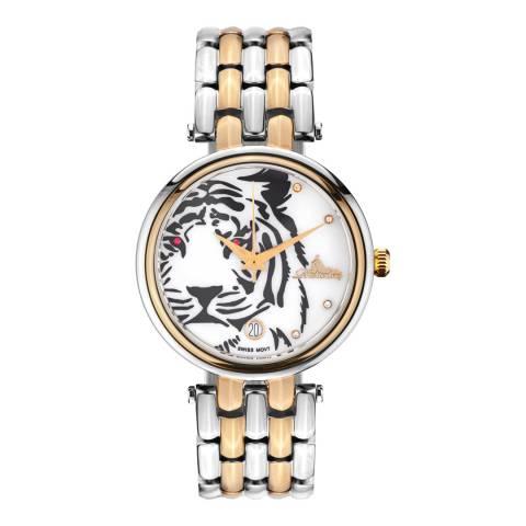 Richtenburg Women's Silver/Gold Stainless Steel Tiger Quartz Watch