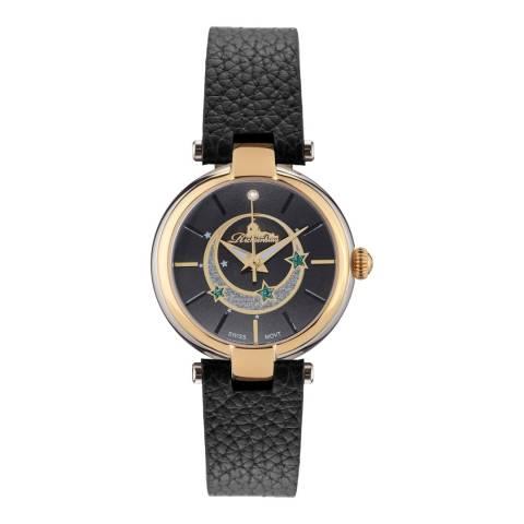 Richtenburg Women's Black Leather Star Watch
