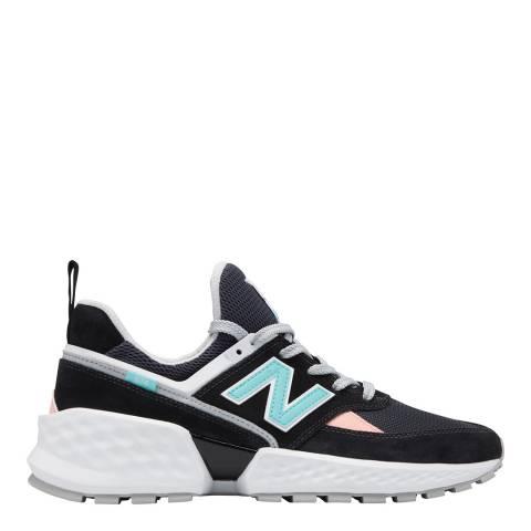 New Balance Black & Multi 574S 90's Sneaker