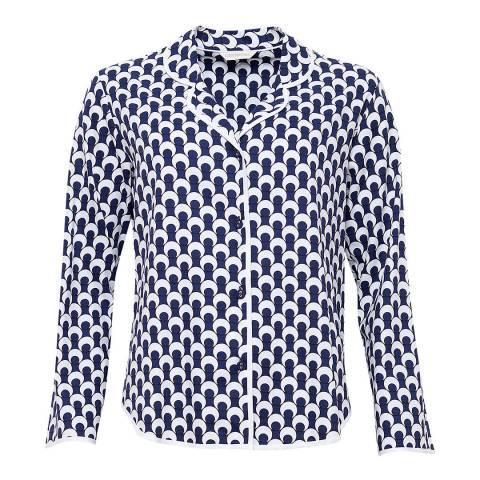 Cyberjammies Rosie Woven Long Sleeve Spot Print Pyjama Top