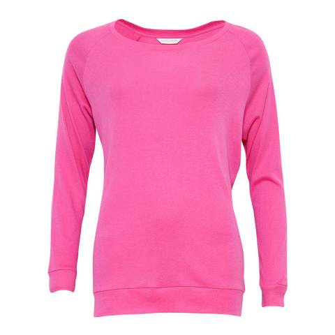 Cyberjammies Erica Long Sleeve Pink Knit Pyjama Top