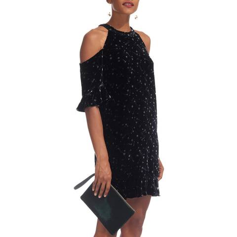WHISTLES Black/White Constellation Dress