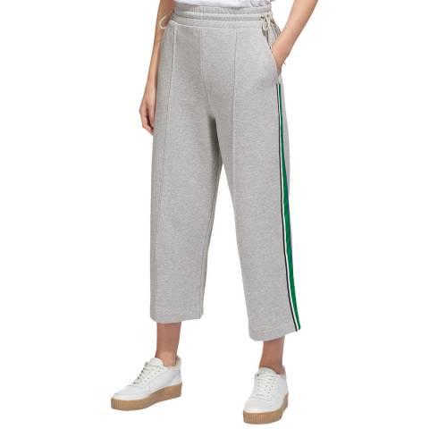WHISTLES Grey Stripe Cotton Sweat Pants
