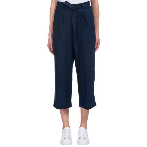 WHISTLES Navy Tie Waist Trousers