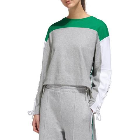 WHISTLES Grey Colourblock Cotton Sweatshirt
