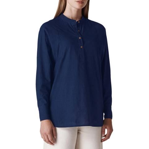 WHISTLES Denim Chambray Cotton Shirt
