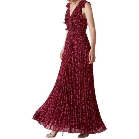 WHISTLES Pink/Multi Adalise Celia Dress