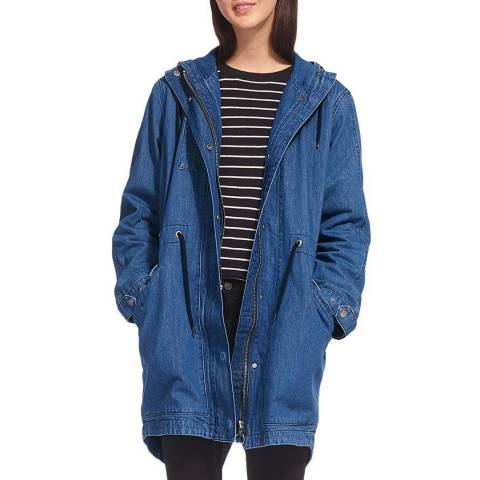 WHISTLES Denim Blue Milly Parka