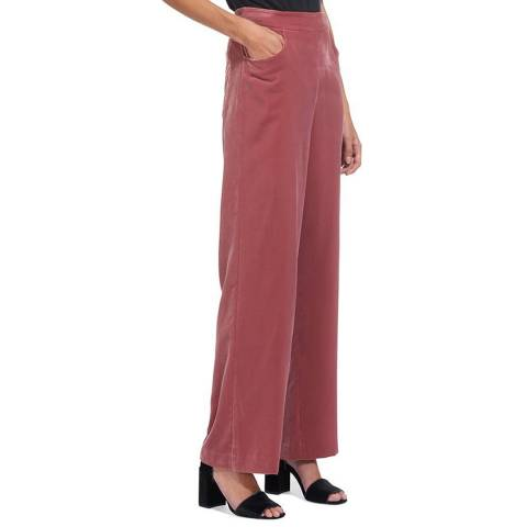 WHISTLES Pink Corinna Wide Trousers