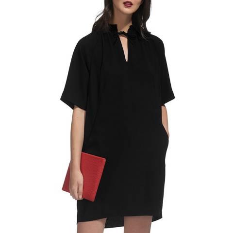 WHISTLES Black Blake Crepe Dress