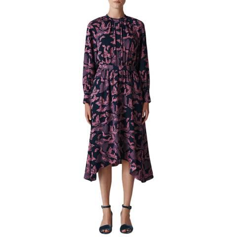 WHISTLES Pink/Multi Papillion Shirt Dress