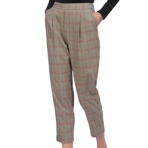 WHISTLES Multi Check Carrot Trousers