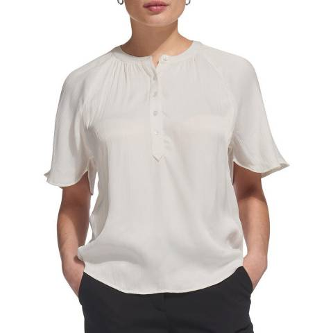 WHISTLES Ivory Paulina Textured Top