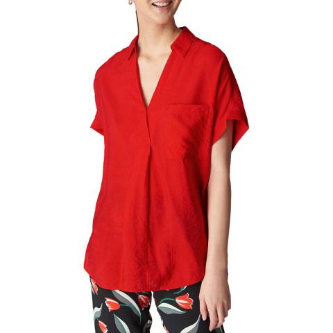 WHISTLES Red Lea Shirt