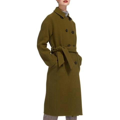 WHISTLES Olive Alicia Belted Coat