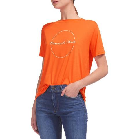 WHISTLES Red Brunch Club Logo T-Shirt