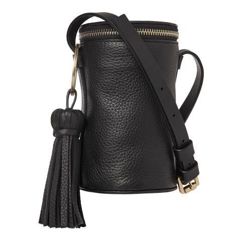 WHISTLES Black Ellis Cylinder Tassel Bag
