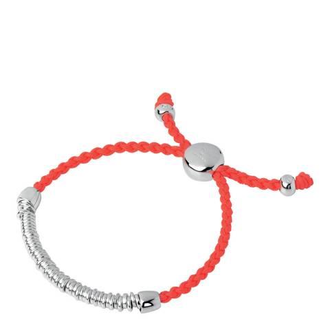 Links of London Orange Silver Effervescence Cord Bracelet