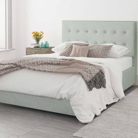 Aspire Furniture Monument 100% Cotton Ottoman Bed - Eau De Nil - Single (3')