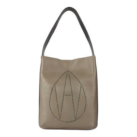 Amanda Wakeley Khaki The Midi Jovi Tote Bag