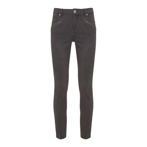 Mint Velvet Darby Grey Biker Jeans
