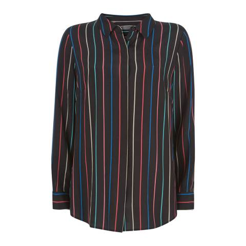 Mint Velvet Black/Multi Striped Shirt