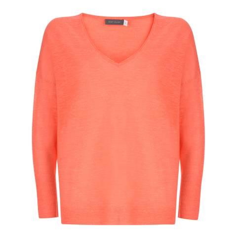 Mint Velvet Orange Linen Blend Lightweight Jumper