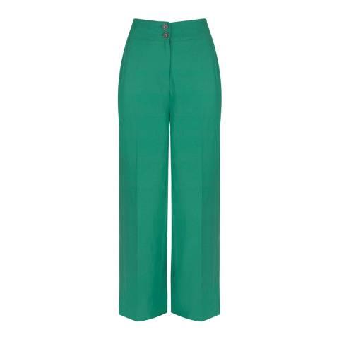 Mint Velvet Ivy Green Wide Leg Trousers