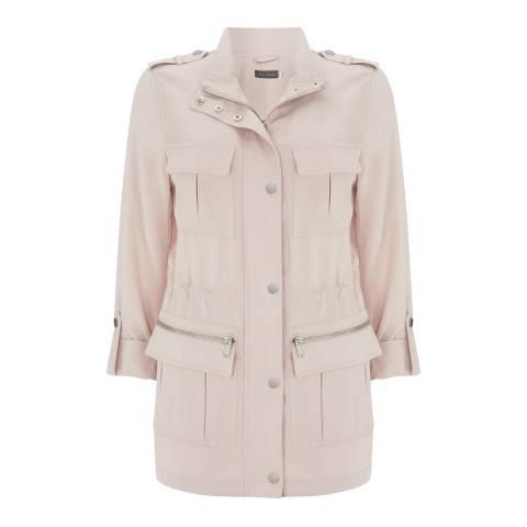 Mint Velvet Pink Petal Utility Jacket