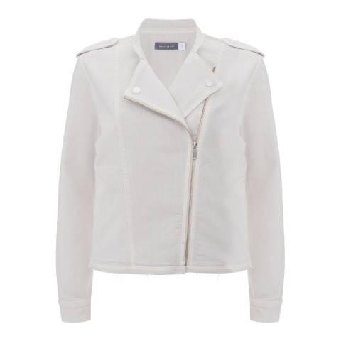 Mint Velvet Chalk Twill Biker Jacket